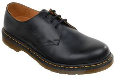 Dr Martens Classic 3 Eye Shoe - Black Dr Martens Classic 3 Eye DM Shoe featuring a leather upper, leather/ textile lining and Z Welt DMS Sole. http://www.MightGet.com/february-2017-2/dr-martens-classic-3-eye-shoe--black.asp