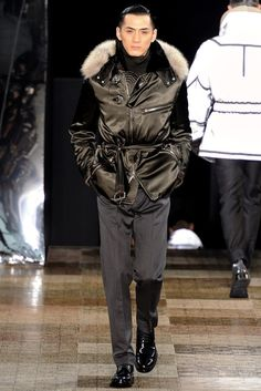 Louis Vuitton Fall / Winter 2012 - Man in Jacket with Fur Collar