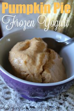 Pumpkin Pie Frozen Yogurt - Jen Around the World