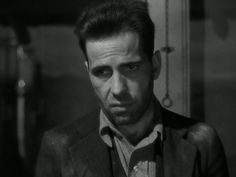 A grumpy Humphrey Bogart don't like no back talk. The Petrified Forest. via SilverScreenings.org