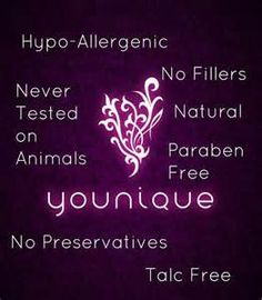 All about Younique cruelty free and fully biologico cosmetics.