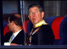 Prince Willem-Alexander & Maxima's Wedding Guests (February 2, 2002): Prince Charles arrives at the church