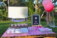 {Tween Party Ideas} - Movie Night Party - Mirabelle Creations