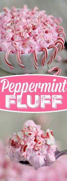 I've got the prettiest, two minute dessert you're going to make all holiday season long for you today! This Peppermint Fluff has just four ingredients and will disappear as quickly as you can make it. Double the recipe for a crowd!: