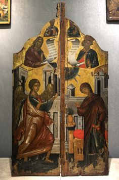 Century, Orthodox Icons, Annunciation, Painting, 15th Century, Art, Photo L