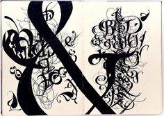 Claudio Gil - et (Sketchbook spread. Felt marker, 33x23cm, 2006) leiris202 flickerstream