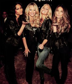 chanel iman, candice swanepoel, erin heatherton, and lily aldridge
