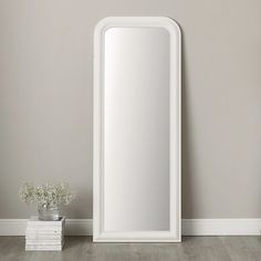The White Company | Madison Full Length Mirror - white | £300 | Delivery within 3 weeks | H188cm x W73cm| Can be wall hung