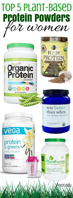 Protein is one of the most important parts of a healthy diet and can also help you lose weight! These are the best vegan protein powders! http://avocadu.com/top-5-plant-based-protein-powders-for-women/ #weightlossrecipes