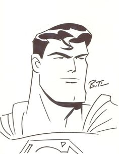 SUPERMAN Art by Bruce Timm