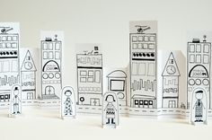 Paper City! Free printables on Made by Joel
