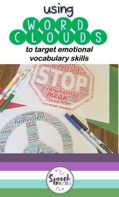 Working with older students in speech therapy and counseling can be challenging!  Here is an easy, fun therapy ideas for middle school and teen students to target emotions and feelings.  There are even links to free worksheets to help students identify and express their emotions!  #emotions #socialskills