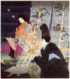 The Tale of Genji - Fireflies, 1970's  Yoshio Okada