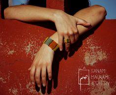 SANAM colorful fully handmade macrame bracelet unisex by SanamHandmade, €50.00