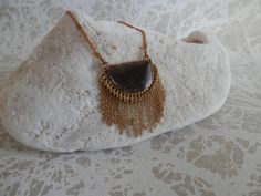 Chevron Necklace Tassel Necklace Fringe Necklace by ransomjewelry, $38.00