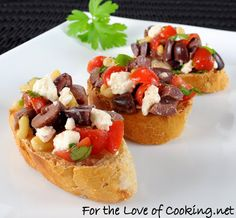 For the Love of Cooking » Greek Bruschetta