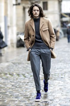 The Best Street Style From Paris Fashion Week Paris Fashion, Modern Mens Fashion, Best Mens Fashion, Trendy Fashion, Fashion Fashion, Fashion Trends, Fashion Photo, Fashion Menswear, Italian Mens Fashion, Fashion Ideas