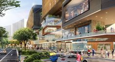 Benoy - Subang Jaya City Centre, 2015 on Behance Condominium Architecture, Retail Architecture, Commercial Architecture, Subang Jaya, Mall Facade, Commercial Street, Modern Architects, Construction Cost, Mall