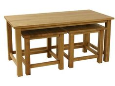 Essentials Oak Coffee Nest of Tables £264.00