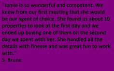 Testimonial for Jamie Geromini-Team Jane Kelly