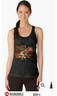 Skull Flag Racerback Tank Top #artbyurte