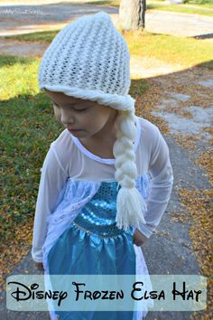 Adorable!!! Handmade Disney Frozen Elsa Hat - Super easy DIY with instructions on simple stitch.