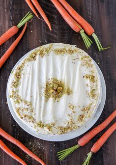 Pumpkin Carrot Cake with Cream Cheese Frosting and a Giveaway