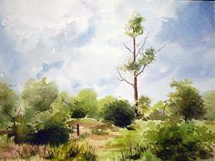 Indian Artist- Jitendra Sule's Watercolour Paintings; The Sky