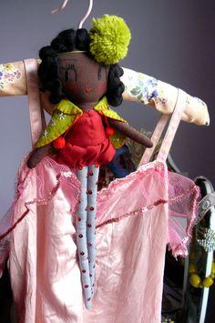 Pom Pom Girl. One-of-a-kind handmade art doll. £43.00, via Etsy.