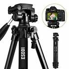 Camera Tripod ESDDI Compact Lightweight Aluminum Tripod with Phone Clip and Carry Bag for Smartphone and DSLR Canon Nikon Sony Olympus Phone Tripod, Camera Tripod, Camera Lens, Nikon, Sony, Camcorder, Smartphone, Gopro, Phone Clip