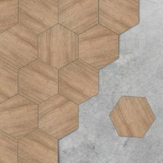 Beech Texture Hexagon Floor Sticker | Funlife®