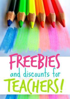 Free Stuff for Teachers & Classrooms + Teacher Discounts at Various Stores