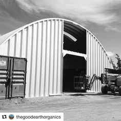 Almost done! #thegoodearthorganics #zenblend #gaiasgift Shipping Container Conversions, Quonset Hut Homes, Site Office, Container Shop, Arch House, Working Area, Solar Power, Warehouse, Zen