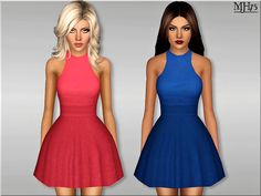 -a lovely summery skater dress for your female sims  Found in TSR Category 'Sims 3 Female Clothing'