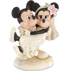 Lenox Disney Minnie's Dream Beach Wedding w/Mickey Mouse Figure Cake Topper New #Lenox