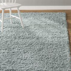 "Andover Mills Lilah Light Slate Blue Area Rug Size: Runner 2'2"" x 6'5"", Color: Blue"