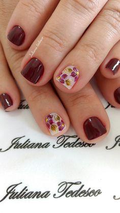 Neat & Simple Manicure Nail Designs, Fingernail Designs, Nail Manicure, Pretty Nail Designs, Short Nail Designs, Nail Art Designs, Nail Art Diy, Easy Nail Art, October Nails