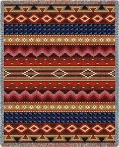 Southwest-Southwestern-Navajo-Style-Geometric-Art-Tapestry-Throw-Jacquard-Woven