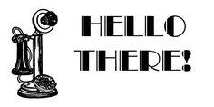 **FREE ViNTaGE DiGiTaL STaMPS**: FREE Vintage Digital Stamp - Hello There!