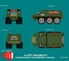 Gerry Andersons Joe 90 U57 Explosives Transporter by ArthurTwosheds.deviantart.com on @DeviantArt