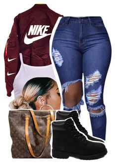 1282 by ashley-mundoe on Polyvore featuring Timberland and Louis Vuitton