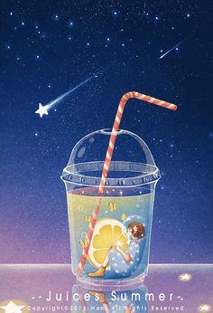 在一个水果口味的梦里,我随风摇曳 - 站酷 (ZCOOL) 移动版 Anime Scenery Wallpaper, Galaxy Wallpaper, Stock Design, 8bit Art, Good Night Gif, Floral Drawing, Beautiful Gif, Character Design Animation, Cute Gif
