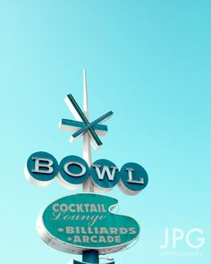 Retro Sign Photography 8x10 color metallic print by jpgphotography, $26.00