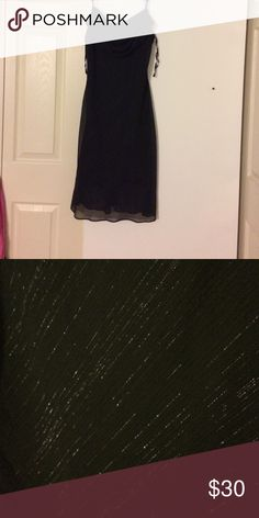 Black spaghetti strap dress Great summer wedding dress. Cowl neck. Worn once Dresses Midi