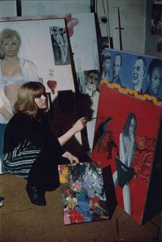 Pauline Boty, Scandal photo by Michael Ward 70s Artists, Female Painters, Pop Art Movement, Charming Man, Artistic Photography, Artist Art, Art Studios, Sculpture Art, Painting