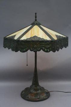 SOLD 1823. Apollo Table Lamp c. 1910, Antique Table Lamps, Antique and ...