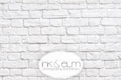 """Ink and Elm Photography Backdrop / Floordrop  """"Great White"""" Brick Wall 8x6 $110 buy 3 get one free"""