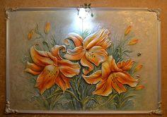 объемное панно лилии