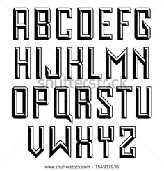 Handmade retro font. Sans serif 3d beveled type. Raster version.