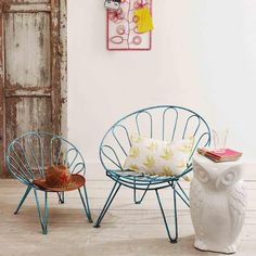 Iron Umbrella Chairs - Outdoor Furniture - Outdoors
